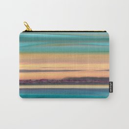 Sunset Glow Seascape with a Tree Lined beach Carry-All Pouch