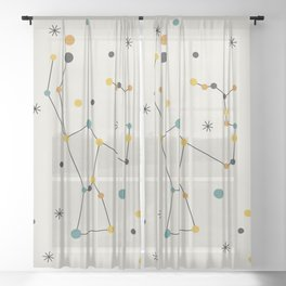 Orion Constellation Sheer Curtain