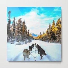 Road Dogs Metal Print