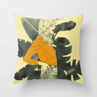 plants Throw Pillows featuring Plants by Magdalena Pankiewicz