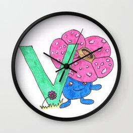 V is for Vileplume Wall Clock
