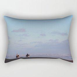 Golden riders Rectangular Pillow