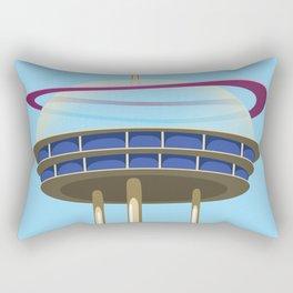 Science fiction Skyscraper. Rectangular Pillow