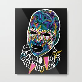 Voodoo Portrait with ethnic ornaments Metal Print