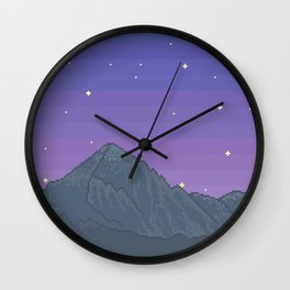 My Mountains Wall Clock