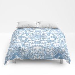 Blue and White Mandala Comforters