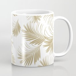 Palm Leaves Pattern - Gold Cali Vibes #3 #tropical #decor #art #society6 Coffee Mug