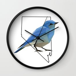 Nevada – Mountain Bluebird Wall Clock