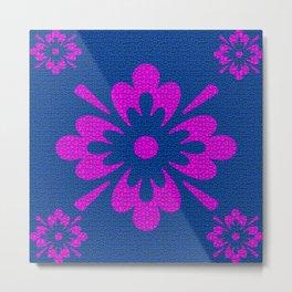 Flores em destaque, estampa floral Metal Print