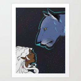 Allura and Blue Art Print