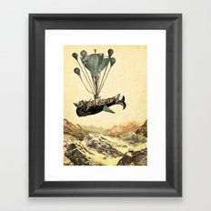 whale flight I Framed Art Print