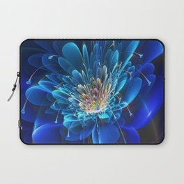 3D Blue Flower V4 Laptop Sleeve