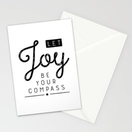 Let Joy Be Your Compass Stationery Cards