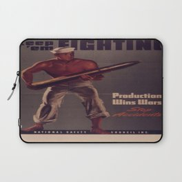 Vintage poster - Keep 'Em Fighting Laptop Sleeve