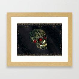 Jeweled Spider Skull Framed Art Print