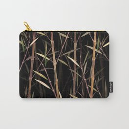 Dry Bamboo Forest at Night Carry-All Pouch