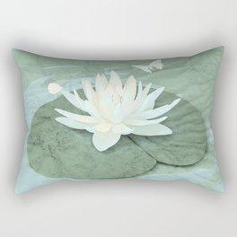 Zen Lotus and Butterfly Rectangular Pillow