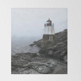Castle Hill Lighthouse, Rhode Island Throw Blanket