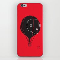 hot air balloon iPhone & iPod Skins featuring Hot Air Balloon Skull by Fupete Art