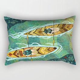 Kayaking Rectangular Pillow