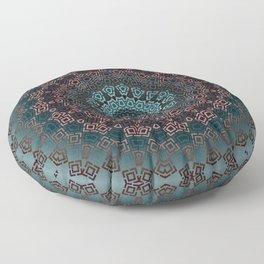 Blue , brown , round , ornament Floor Pillow