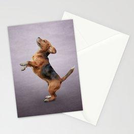 Drawing Dog Beagle 4 Stationery Cards