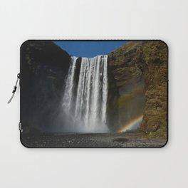 skogafoss rainbow Laptop Sleeve