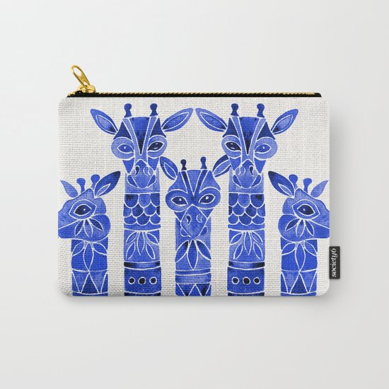Navy Giraffes Carry-All Pouch