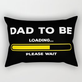Dad To Be Loading Gift: First Time Father Present Rectangular Pillow