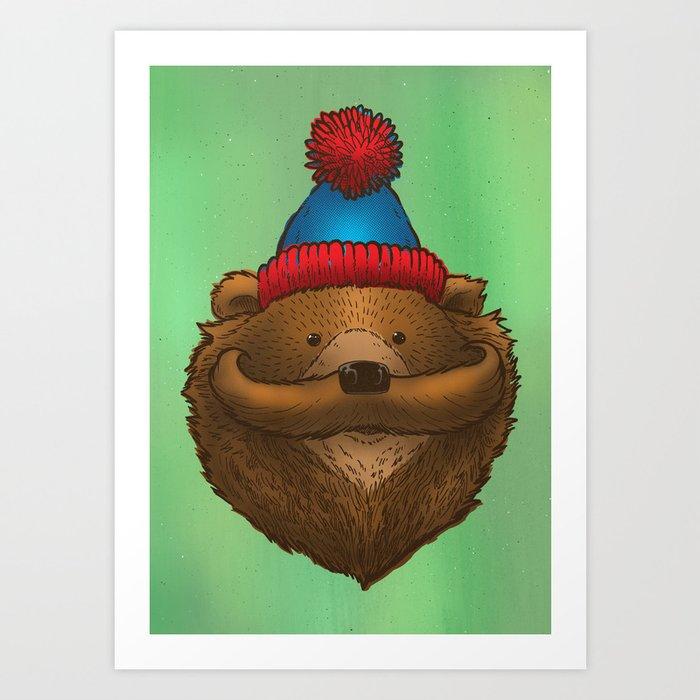 The Mustache Bear Art Print