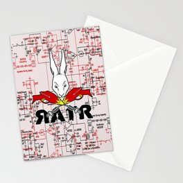 Crossed Rayguns Stationery Cards