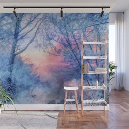 Winter evening Wall Mural