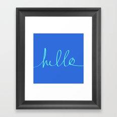 Hello, Sailor Framed Art Print
