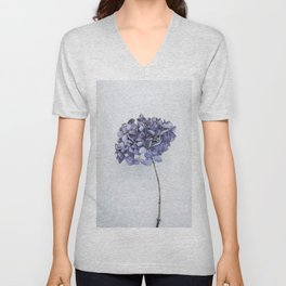 Dried Blue Hydrangea Unisex V-Neck