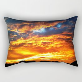 Fantastic Sunset, blue and orange sky Rectangular Pillow