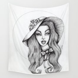 JennyMannoArt Graphite Drawing/Stephanie Wall Tapestry
