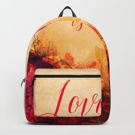 LOVE IS THE AIR Portrait Backpack