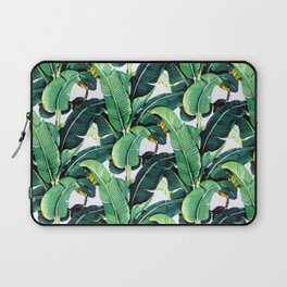 Tropical Banana leaves pattern Laptop Sleeve