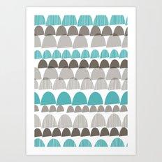 Shroom aqua Art Print