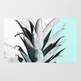 Pineapple Top Marble Pastel Blue Rug