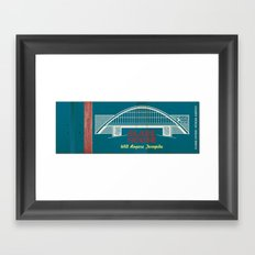 Glass House Matchbook Framed Art Print