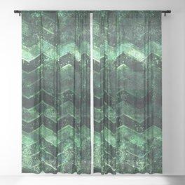 Glitter Waves III Sheer Curtain