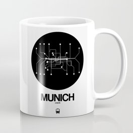 Munich Black Subway Map Coffee Mug