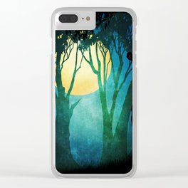 Dance By The Light Of The Full Moon Clear iPhone Case