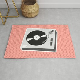 Turntable Red Rug