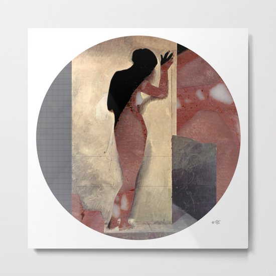 Hayez Meat Woman Collage Metal Print