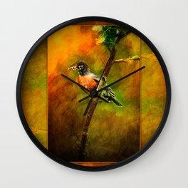 Feeding Time ~ Mama Robin ~ Ginkelmier Inspired Wall Clock