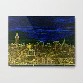 New York Neon Lights Metal Print