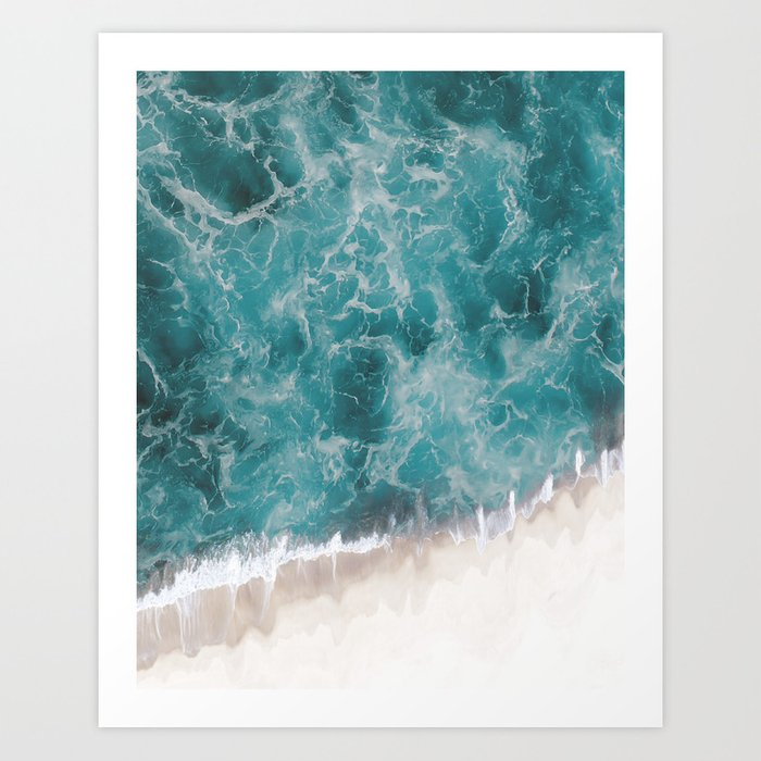 Sunday's Society6 | Ocean waves art print