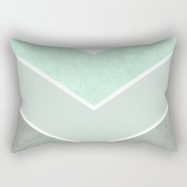 MINT TEAL GRAY CONCRETE CHEVRON Rectangular Pillow